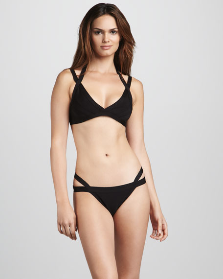 Cross-Strap Bikini, Black