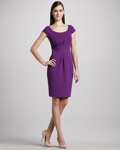 Gia Pleated-Waist Dress