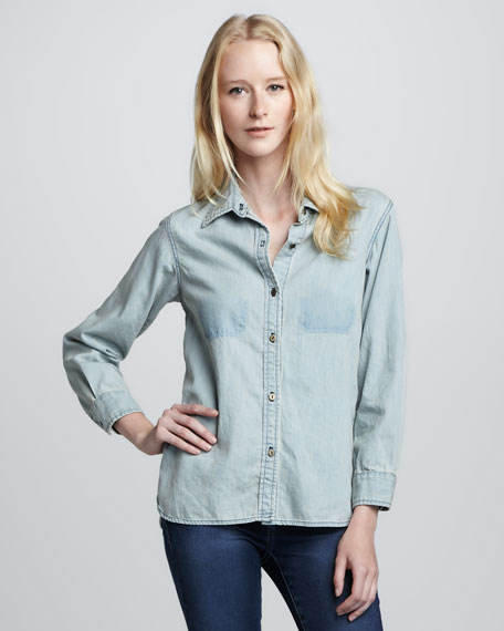 The Perfect Bottle Cap Denim Shirt