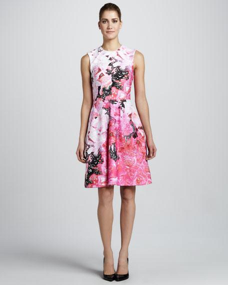 Floral-Print Sleeveless Dress