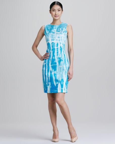 27432e180172a Elie Tahari Emory Tie-Dye Sheath Dress
