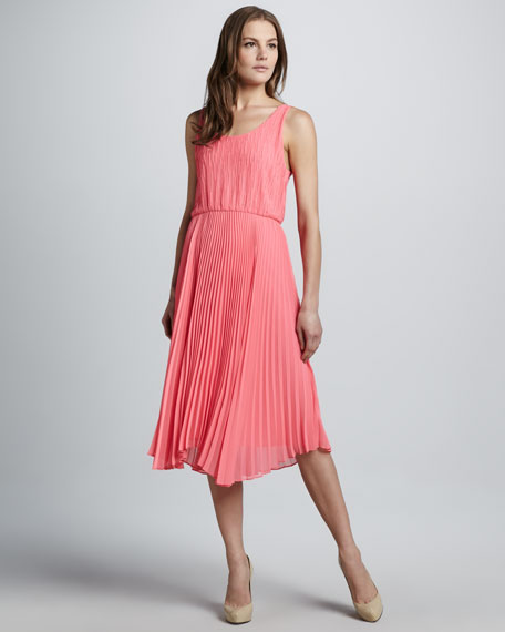 Penny Knife-Pleat Dress