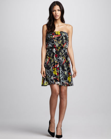 Stuart Blouson Strapless Dress