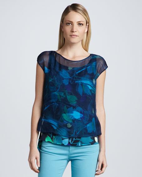 Gisella Silk Print Blouse