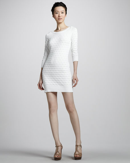 Sweep-Stitch Knit Dress