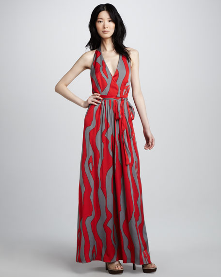 Gustavia Printed Halter Maxi Dress