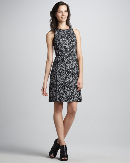 Knit Leopard-Print Dress