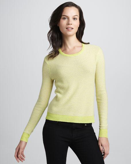 Neon Striped Cashmere Sweater