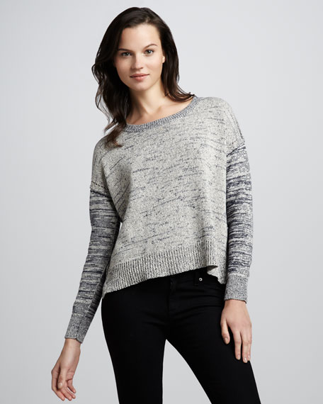 Marbled Boxy Pullover