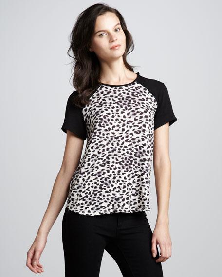 Leopard-Print Raglan Top