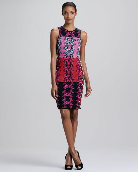 Hibiscus Intarsia Print Dress
