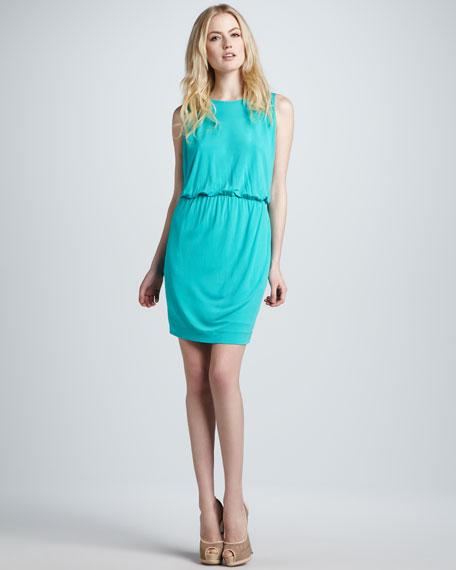 Sleeveless Draped Jersey Dress