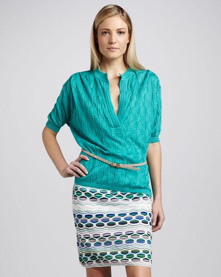 Pucker Wave Stripe Skirt
