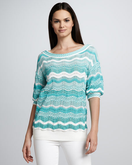 Zigzag Stripe Knit Sweater