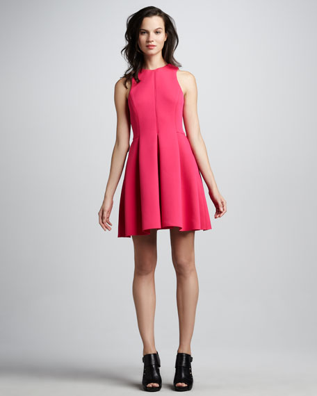 Contoured Fit-and-Flare Dress