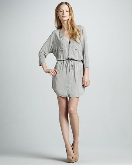 Dayle Mix-Fabric Dress