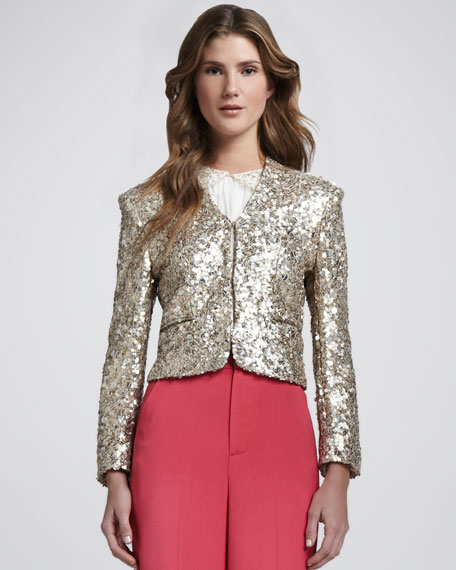 Stein Fitted Sequined Jacket