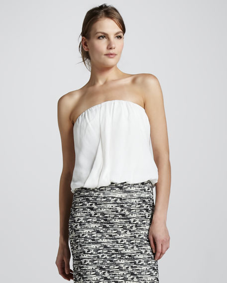 Carmela Draped Strapless Top