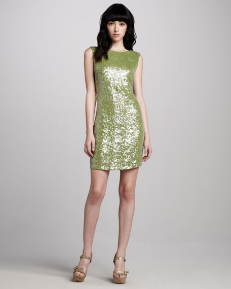 Ally Sequined V-Back Dress