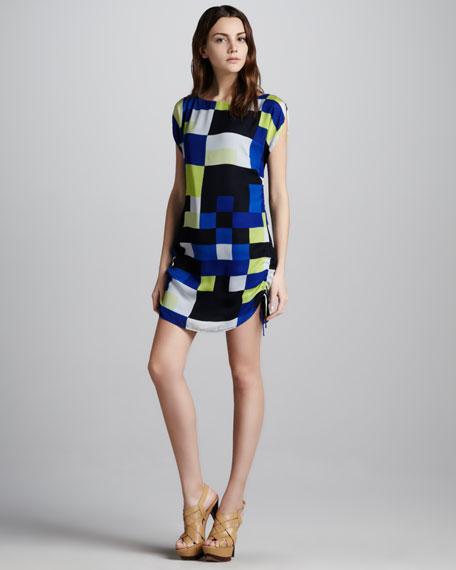 Chloe Drawstring-Side Dress