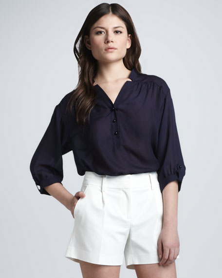 Camila Button-Front Blouse