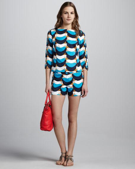 Wave-Print Shorts