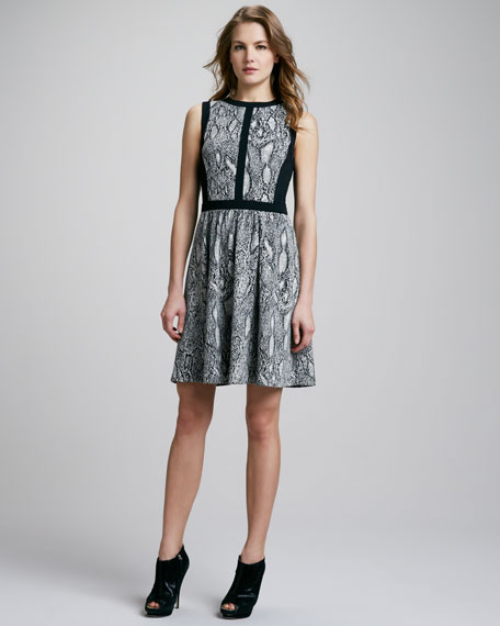 Python-Print Flared Dress