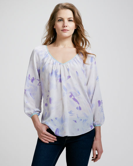 Hawaii Printed Silk Blouse