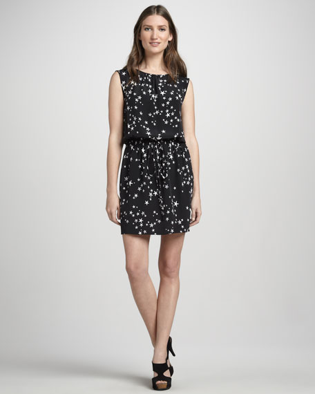 Sleeveless Star-Print Dress