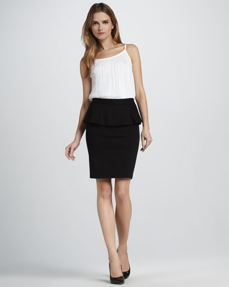 Natasha Peplum Pencil Skirt