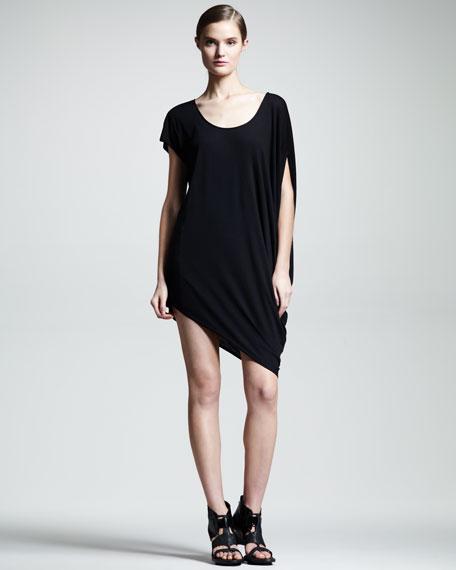 Kinetic Asymmetric Jersey Dress