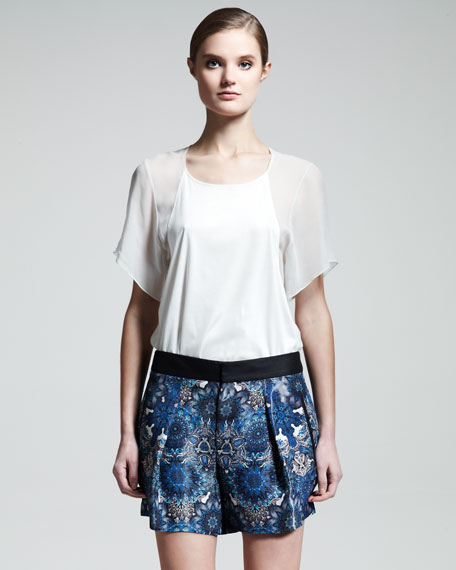 Mandala-Print Shorts