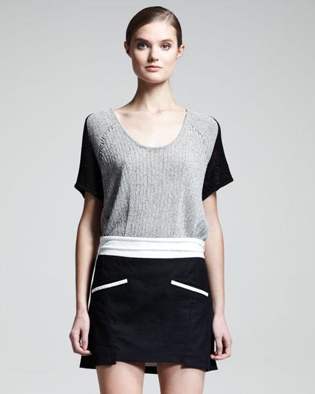 Era Contrast-Pocket Miniskirt