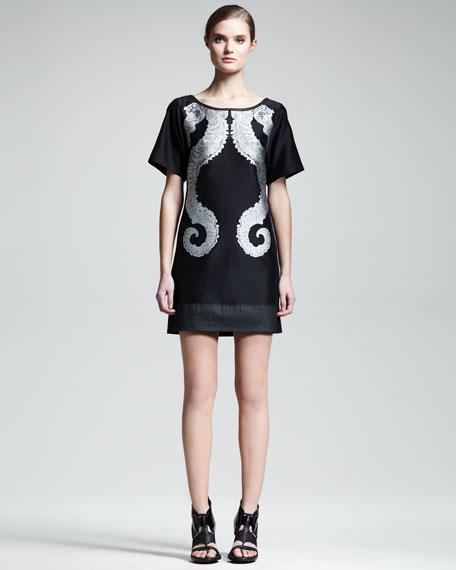 Sea Horse Jacquard Dress