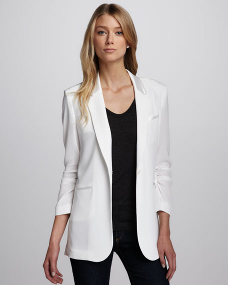 Heather Crepe Blazer