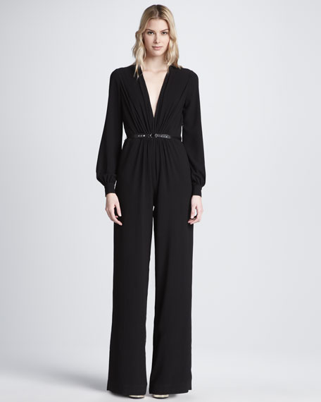 Long-Sleeve Jumpsuit