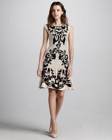 Floral Intarsia-Knit Dress