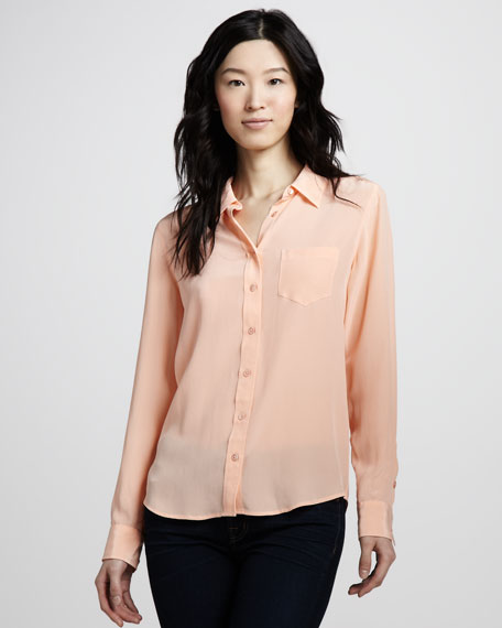 Brett Super Vintage Wash Top, Peach Nectar