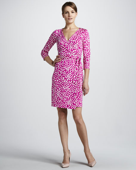 New Julian Printed Wrap Dress