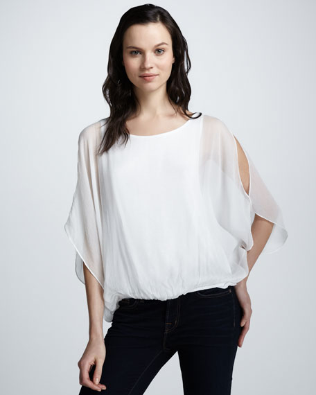 Pool Batwing Silk Top