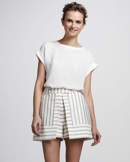 Nyos Striped Skirt-Shorts