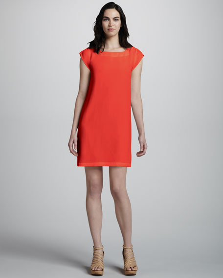 Weaver Cap-Sleeve Dress