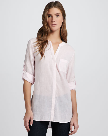 Ceres Washed Voile Top, Cotton Candy