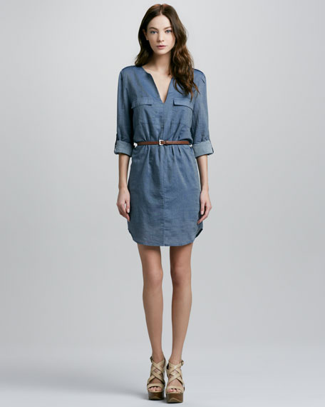 Rathana Chambray Shirtdress