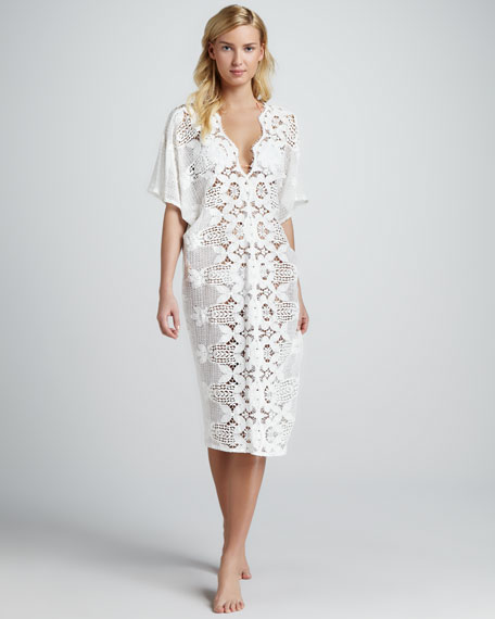 Kate Scalloped Lace Coverup