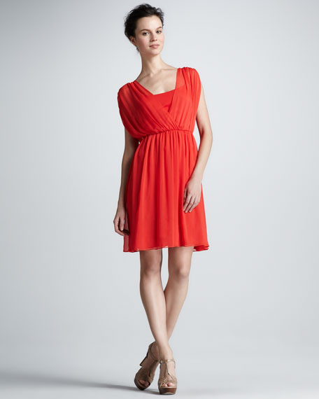 Clara Pleated Dress