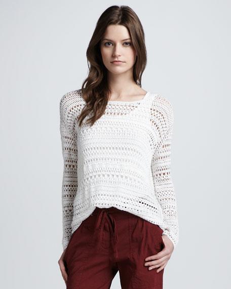 Sag Harbor Wide-Stitch Sweater