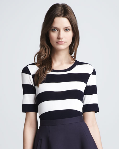 Dasher Striped Ponte Top
