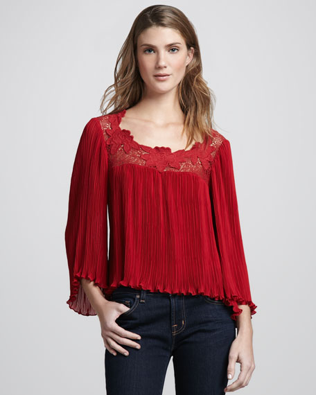 Wild Flower Bell-Sleeve Top
