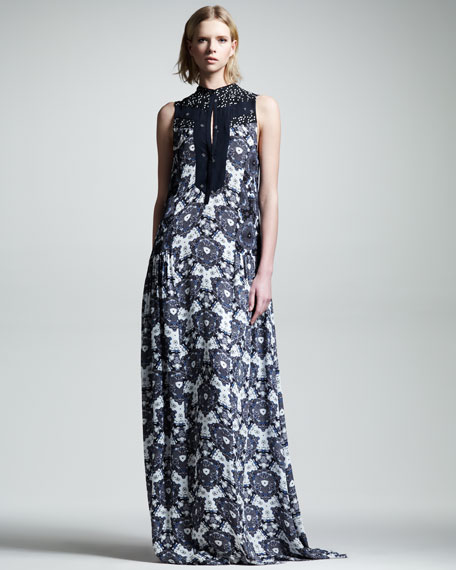 Lee Kaleidoscope Silk Maxi Dress